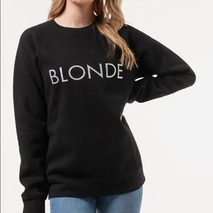 Brunette the Label Blonde Glitter Crewneck